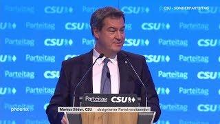 CSU-Parteitag: Bewerbungsrede von Markus Söder zum Parteivorsitz am 19.01.19