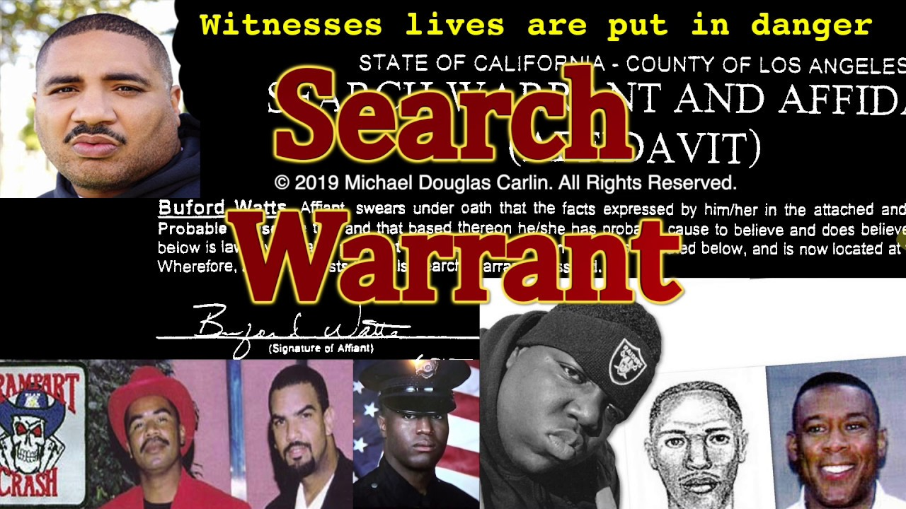 EXCLUSIVE We Release The Search Warrant in the Christopher Wallace Murder  Investigation