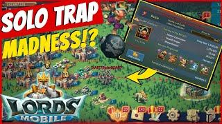 Lords Mobile ChaCha - Solo Trap Fun + 22 Million Trooos Zeroed!