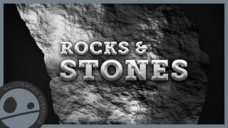 How to Draw Rocks and Stones - Easy Step by Step Tutorial