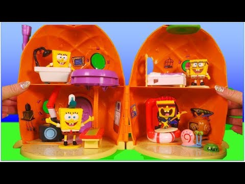Nickleodeon Spongebob Squarepants anime Pineapple Playset, with songs Toy Unboxing Episode