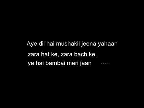Aye dil hai mushkil CID Karaoke with lyrics