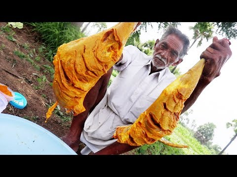 Mutton lamb recipe Prepared by My Grandpa | Cooking Goat Big Legs in My Village | Grandpa Kitchen