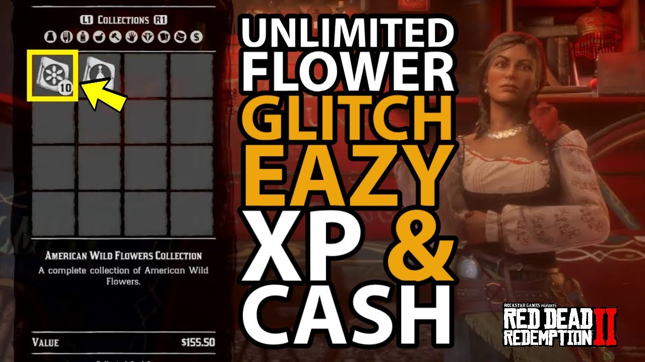 *SOLO* Unlimited Flower Glitch Eazy Xp & Cash in Red Dead Online