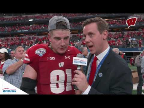 1 on 1 with Troy Fumagalli after Cotton Bowl Win