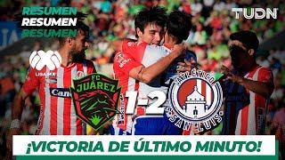 Resumen y Goles | FC Juárez 1 - 2 Atlético San Luis | Liga Mx - AP 19 - J13 | TUDN