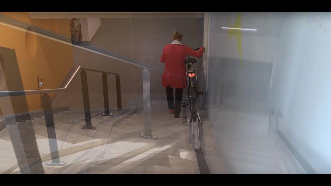 fahrradschiene für treppe