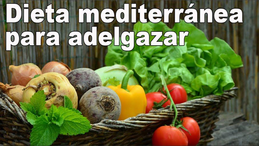 dieta para perder peso mediterranea