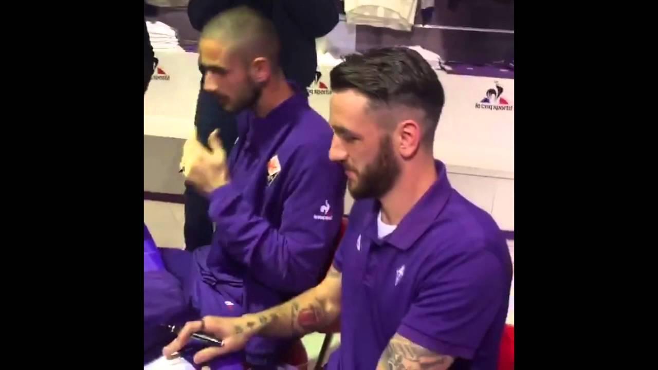 Gonzalo Rodriguez e Luca Lezzerini della Fiorentina a I Gigli ...