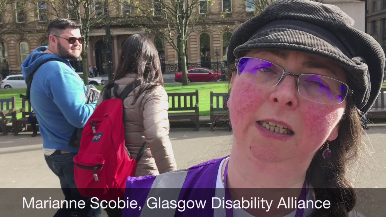 Glasgow Disability Alliance rally, George Square