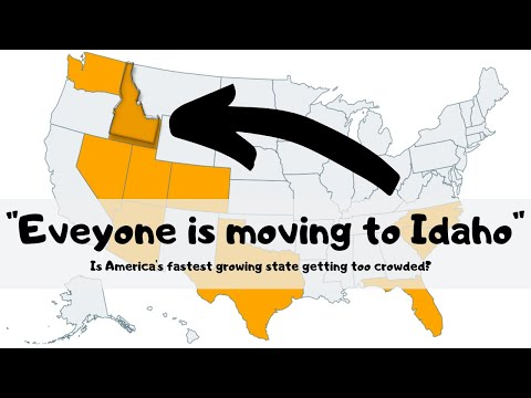 How crowded is Idaho, the fastest growing state?