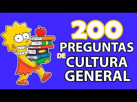 200 PREGUNTAS DE CULTURA GENERAL