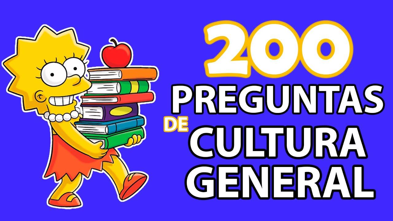 200 Preguntas De Cultura General 1 Youtube