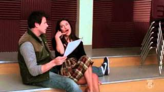 Glee - Smile - Rachel Berry and Finn Hudson (Cory Monteith)