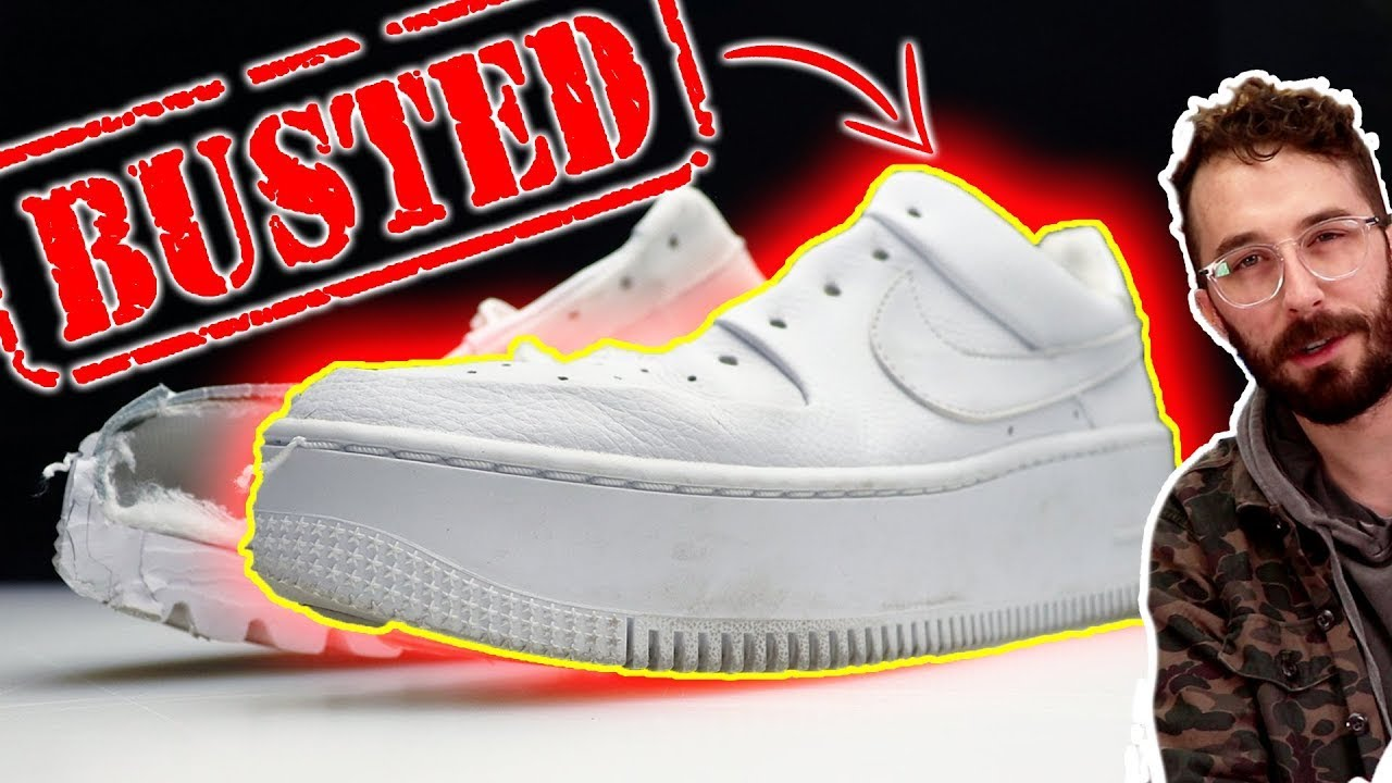 Air Force 1 Platforms are NOT what you think... (CUT IN HALF) - Nike AF1 Sage Low