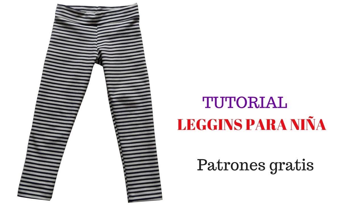 DIY Cómo hacer un leggins de niña corte y confección - YouTube