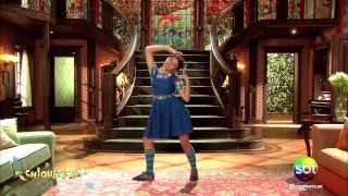 mili ensina a danar a coreografia da musica remexe chiquititas 2013