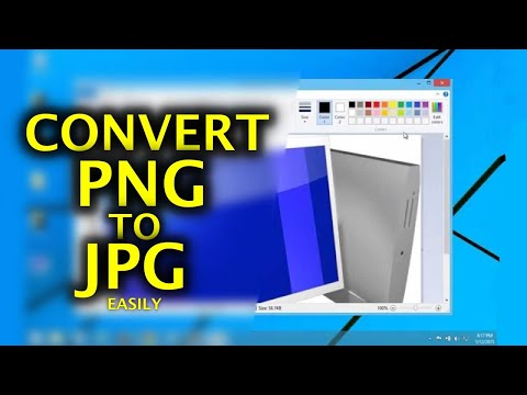 How to Convert PNG to JPG - Easy, No software required.