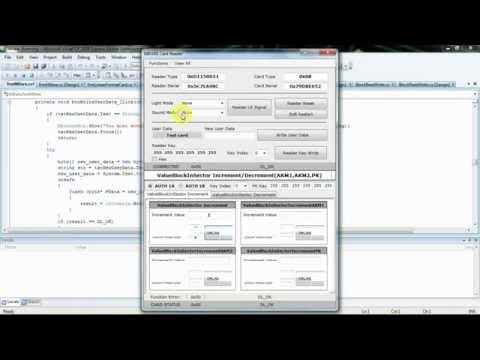RFID NFC and Mifare programming - Visual C# (Windows) source code