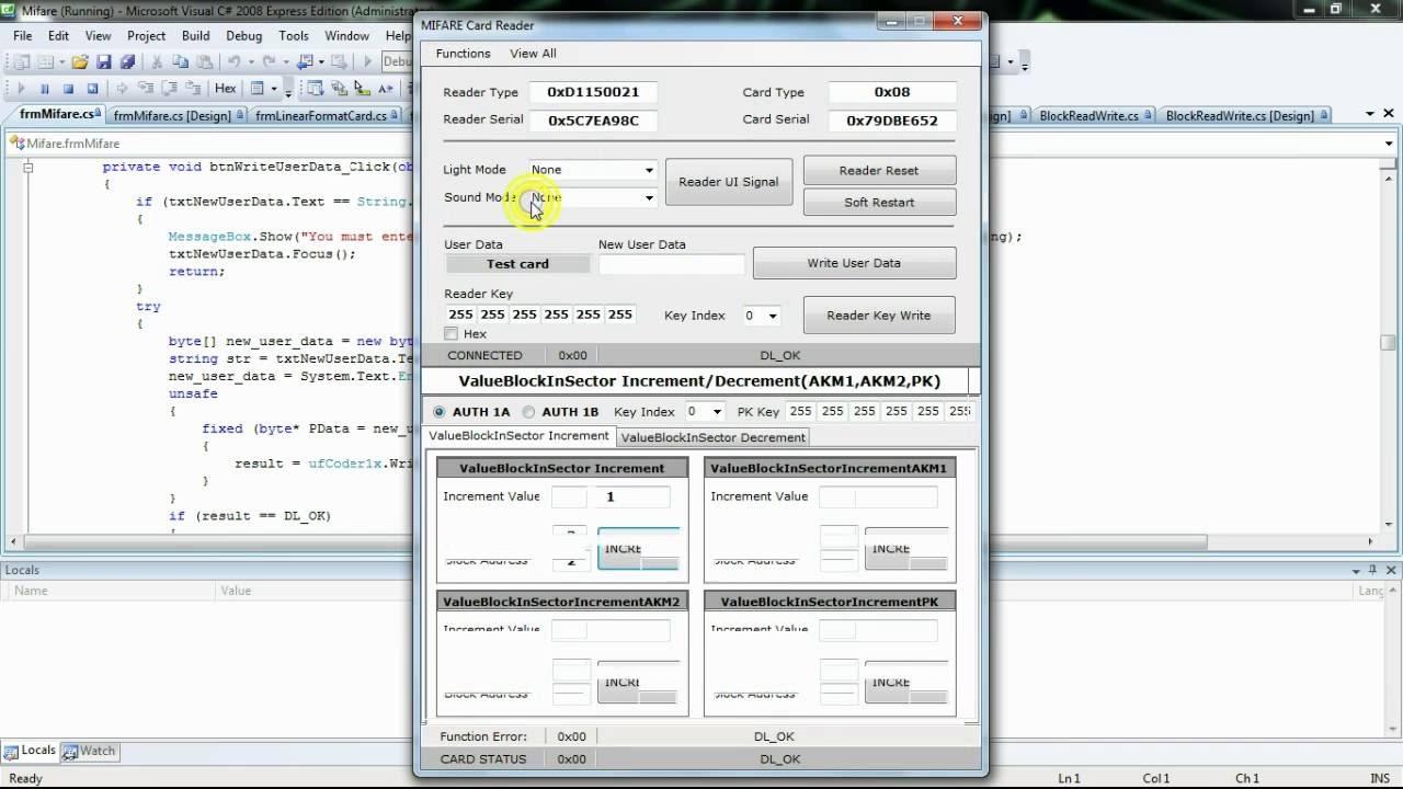 Mifare Ultralight Software