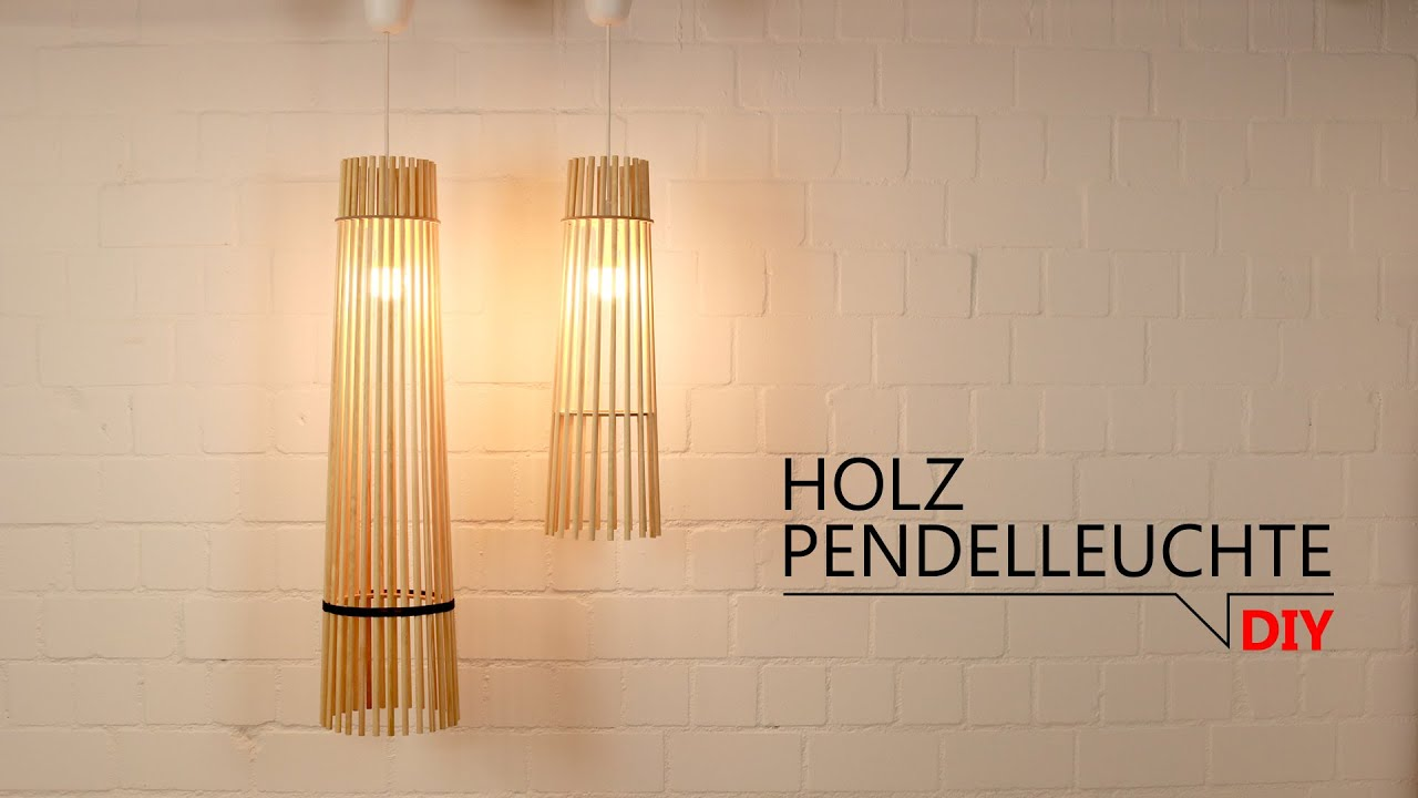 Diy Holz Pendelleuchte Free Download Templates Youtube