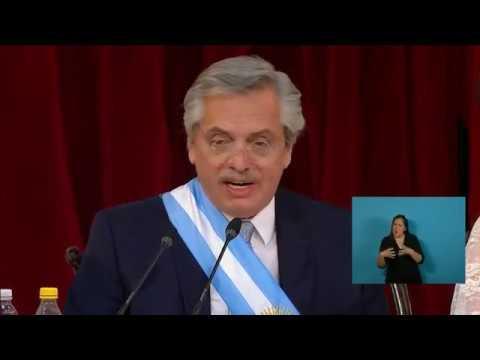 Discurso completo de Alberto Fernández en el acto de asunción presidencial