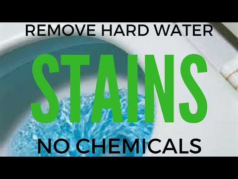 HOW TO REMOVE HARD WATER STAINS FROM A TOILET BOWL -  NO CHEMICALS!