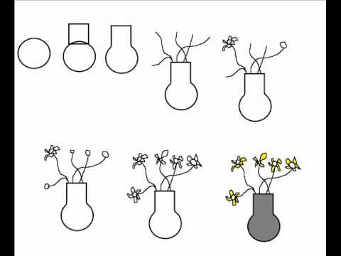 How to draw a vase with flowers simple step by step drawing tutorial