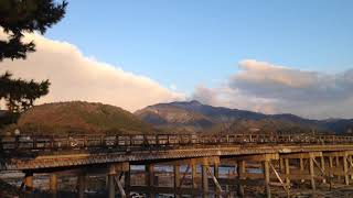 2017年12月14日(木) 雪雲の京都嵐山 渡月橋 ☆ Arashiyama  Kyoto Desember
