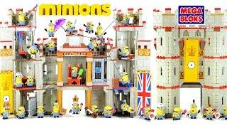 Despicable Me Minions Castle Adventure Mega Bloks w/ Kevin Stuart & Bob Speed Build