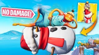*NEW* NO FALL DAMAGE TRICK WITH SNOWMAN! | Fortnite Best Moments #118 (Funny Fails & WTF Moments)