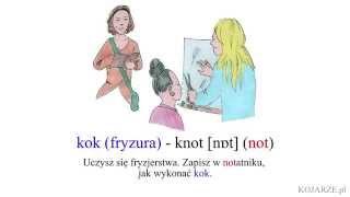 kok (fryzura) - knot [nɒt] (not) - kok fryzura po angielsku