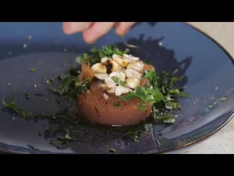 Recette du Chef : Tranche de saumon fumée à l'aigre douce