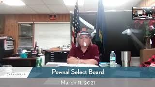 Pownal Select Board // 3-11-21