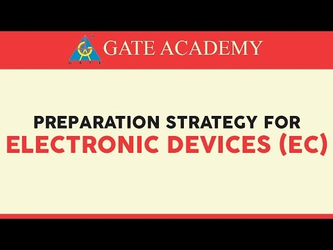 5. Electronic Devices- Preparation Strategy for GATE 2018/19 (EC)
