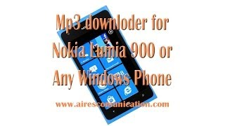 Mp3 Downloader for Nokia Lumia 900 windows phone