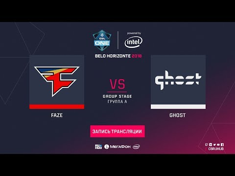 FaZe vs Ghost - ESL One Belo Horizonte - map2 - de_dust2 [Godmint, Anishared]