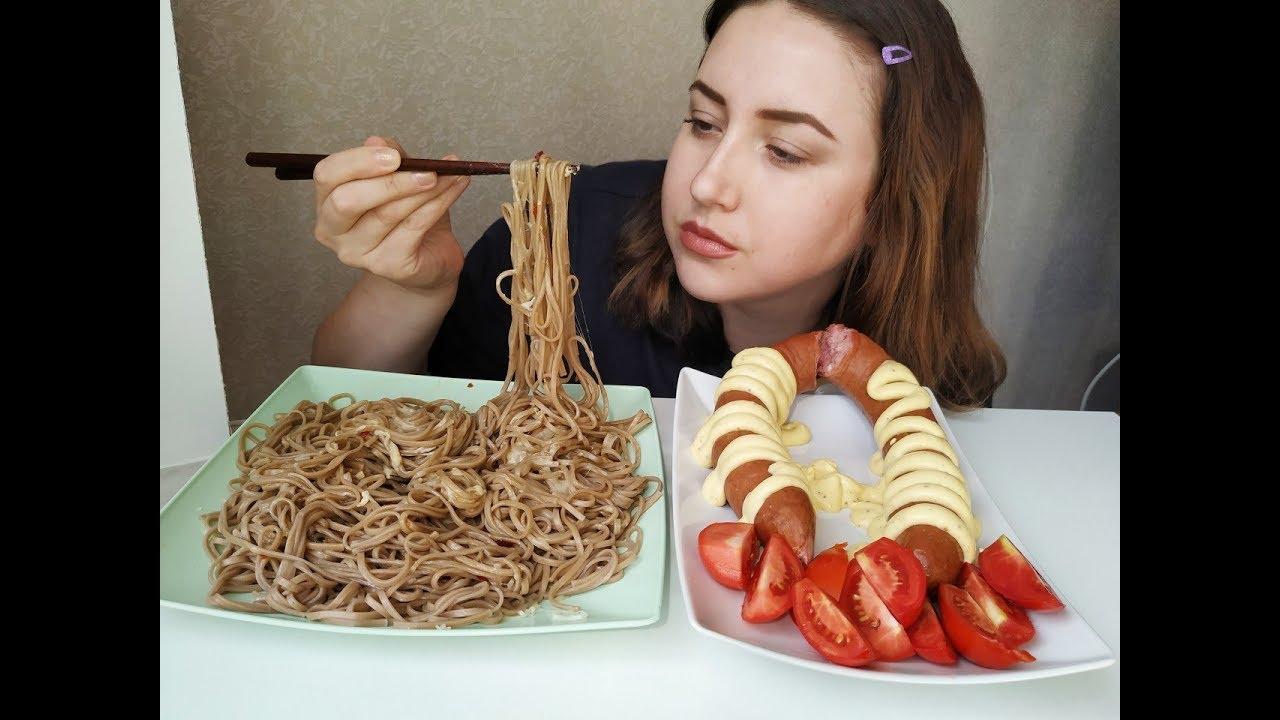Краковская колбаса и лапша | Cracow sausage noodle |Eeating show | 먹방