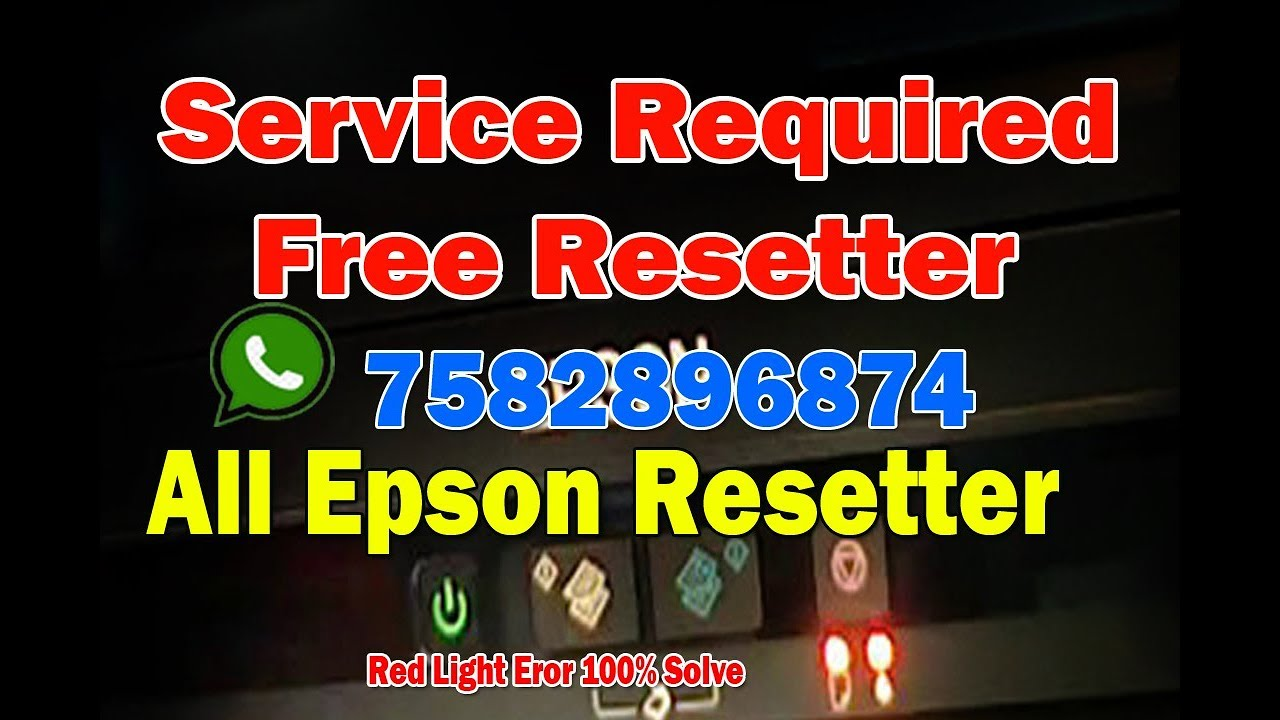 Solution in Hindi: Epson l380,l383,l385,l485 reseter
