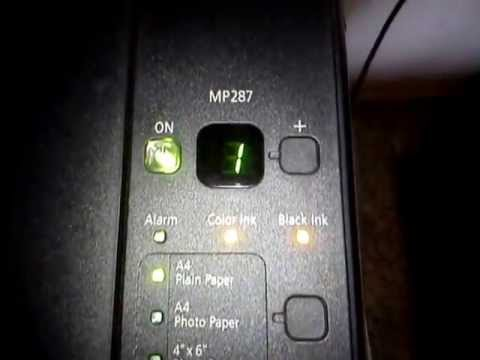Canon Pixma MP287: How to set up and install ink cartridges
