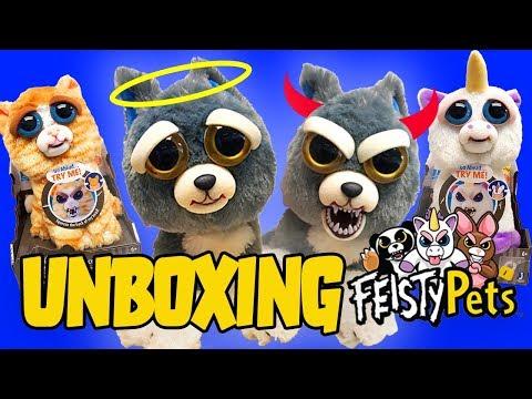 Feisty Pets Unboxing! Featuring Sammy Suckerpunch, Glenda Glitterpoop, And Princess Pottymouth!