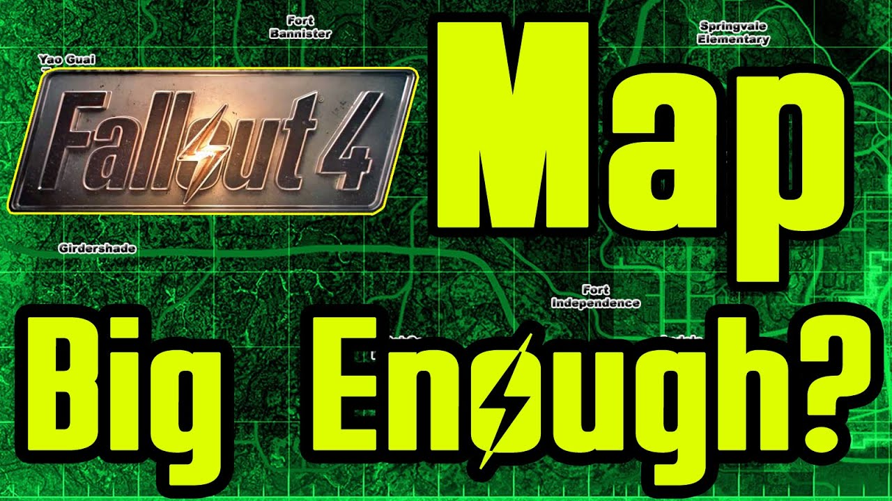 FALLOUT 4 Map Size Revealed HOW BIG? - YouTube