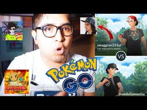 ¡BATALLAS PVP CON SWAGGRON333, DRACOGAMES & CH3VI TV ¿EL PEOR LAG? BATTLE GO | Pokémon GO thumbnail