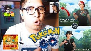 ¡BATALLAS PVP CON SWAGGRON333, DRACOGAMES & CH3VI TV ¿EL PEOR LAG? BATTLE GO | Pokémon GO