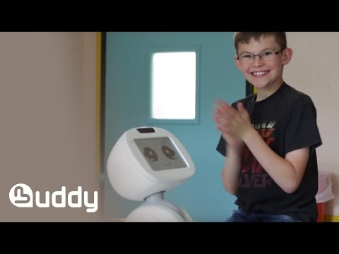 BUDDY the robot play games with children with autism (Short) - EN/FR