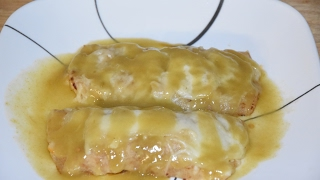 Creamy Chicken Enchiladas Recipe - Receta de Enchiladas - Chicken Enchiladas With Green Chile Sauce