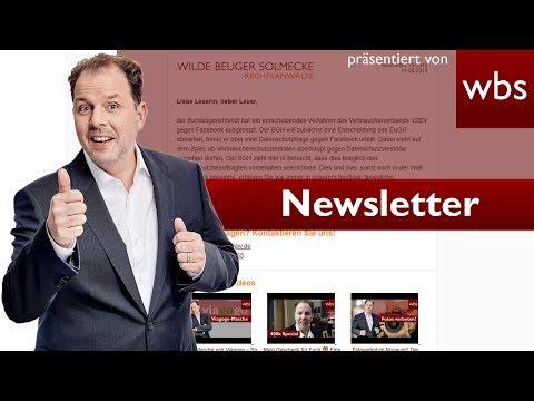 Newsletter legal versenden: So geht's! I RA Christian Solmecke