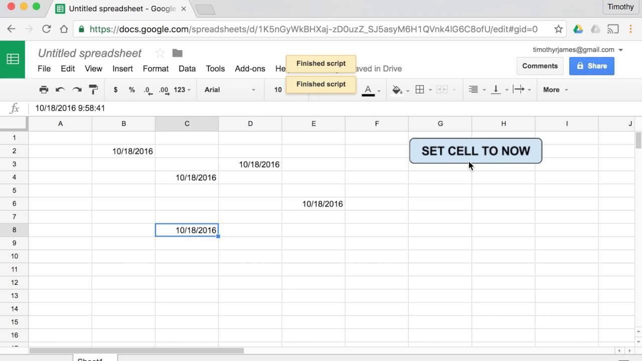 How Can I Create A Button In Google Sheets That Sets Cells To - Create google sheet