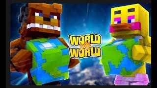 FREDDY FASBEAR WORLD VS CHICA WORLD! (World Vs World Challenge)