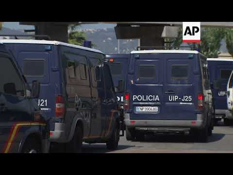 Police remain on guard at Barcelona's main port